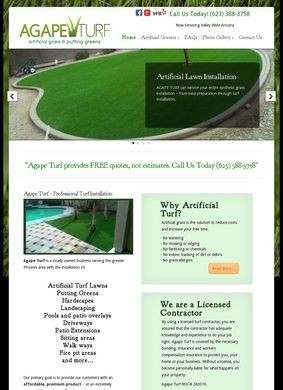 Agape Turf LLC.: Agape Turf Artificial Grass & Putting Greens