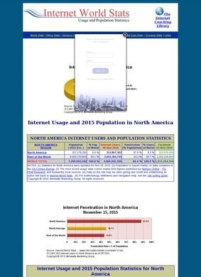 North America Internet World Stats