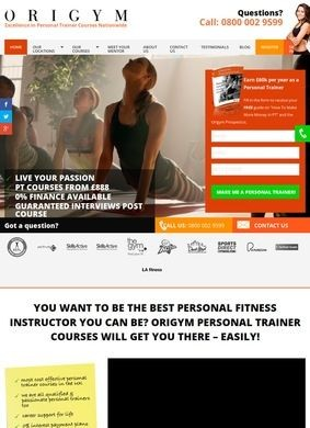 Origym Personal Trainer Courses