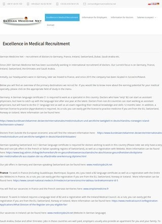German Medicine Net: Database of German Hospitals and Treatment