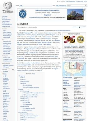 Wikipedia – Maryland