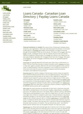 Canadian Loan Directory