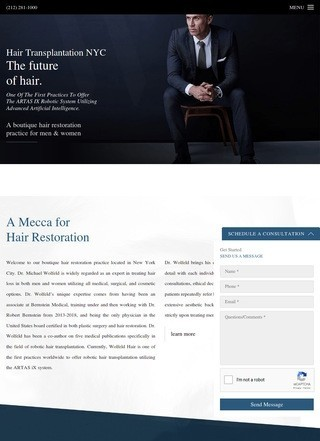 NYC Hair Transplants Surgeon, Dr. Wolfeld