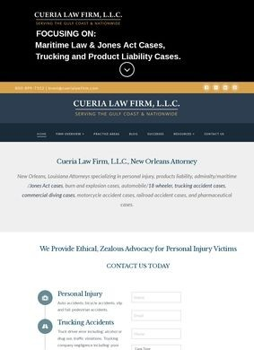 Cueria Law Firm, LLC: New Orleans Accident Lawyer