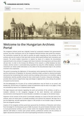 The Hungarian National Archives Database