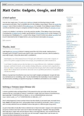 Matt Cutts' Blog