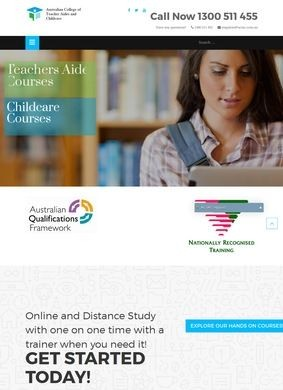 ACTAC: Teacher Aide Courses and Childcare Courses