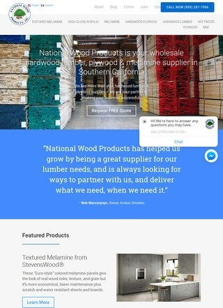 National Wood Products: Lumber Supply, Melamine Panels