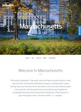 Massachusetts Travel Information and Travel Guide
