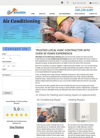 Affordable Air Conditioning & Heating LLC