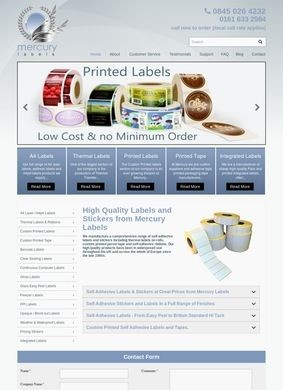 Mercury Labels: Adhesive Labels and Stickers