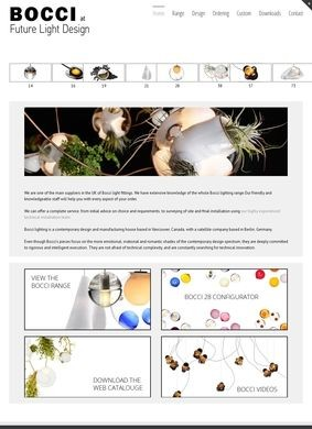 Bocci Lighting UK Website