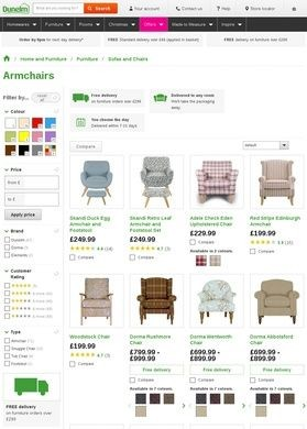 Dunelm Mill: Armchairs