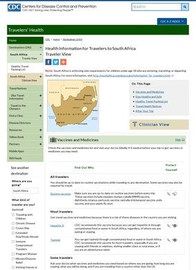 Health Information for Travelers to South Africa