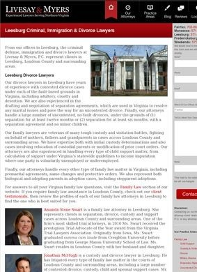 Leesburg Divorce Lawyers: Livesay & Myers