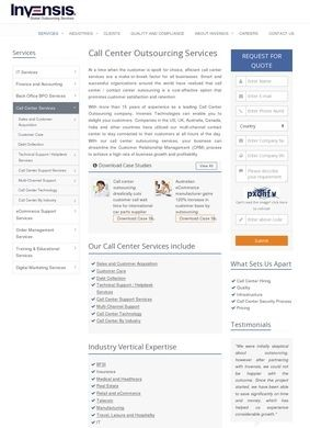 Invensis: Call Center Services
