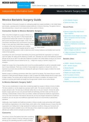 Mexico Bariatric Surgery Guide