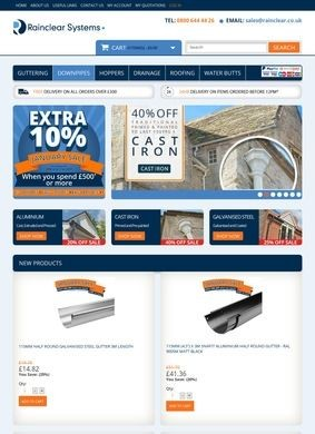 Rainclear: Metal rainwater Guttering Systems