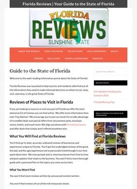 Florida Reviews: The Ultimate Guide to the State of Florida