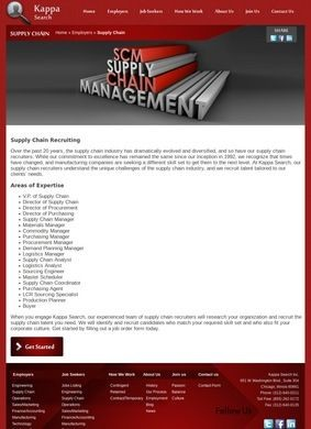 Kappa Search: Chicago Supply Chain & Manufacturing Recruiters