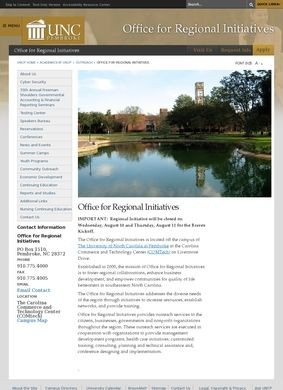 UNC Pembroke: Regional Center for Economic, Community and Professional Development