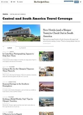 The New York Times Travel Guides: South America