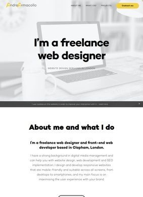 Andre Armacollo: Freelance web designer in London