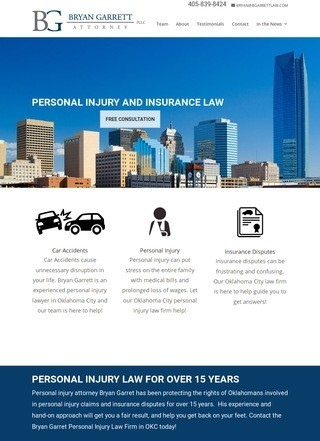 Bryan Garrett Personal Injury Law