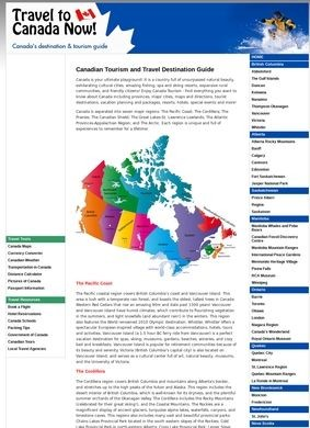 Canadian Tourism and Travel Destination Guide