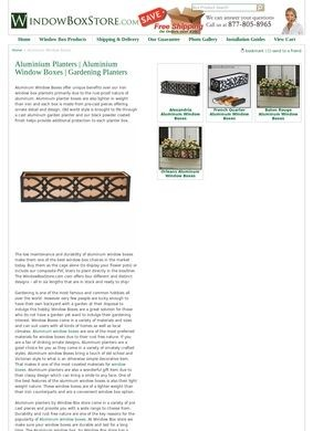 Windowboxstore.com: Aluminum Window Boxes