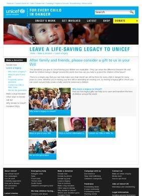 Unicef UK: Gifts in Wills