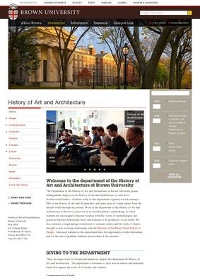 Brown University: Department of the History of Art and Architecture