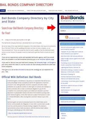 Bail Bonds Company Directory by City and State