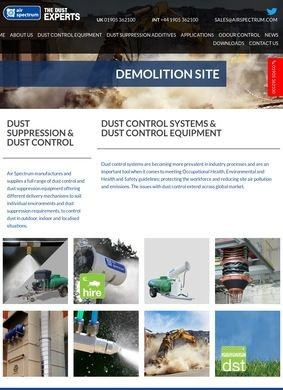 Dust Control from Air Spectrum