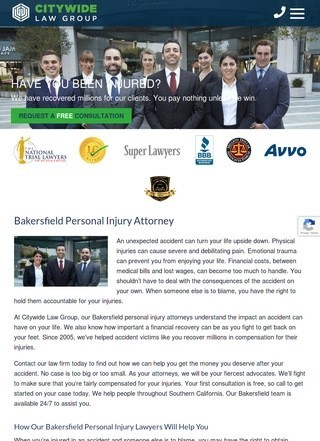 Citywide: Bakersfield Personal Injury Attorney
