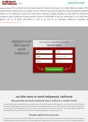 North Hollywood Title Loans