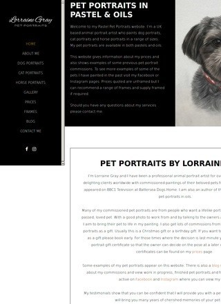 Pastel Pet Portraits by Lorraine Gray