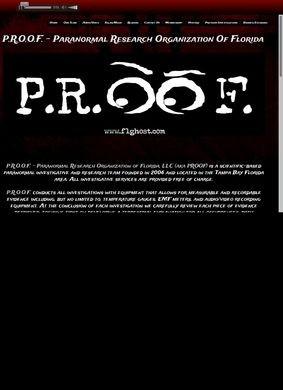 P.R.O.O.F Paranormal Research Organization of Florida