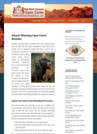 Red Rock Canyon Cane Corso