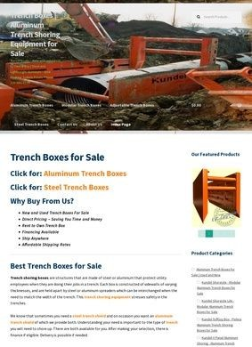 Trench Shoring Boxes