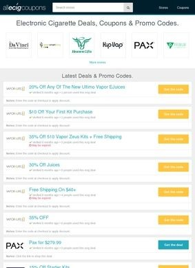 Ecig Deals and Coupons