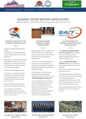Canadian Garage Door Repair