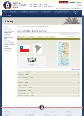 CIA World Factbook: Chile