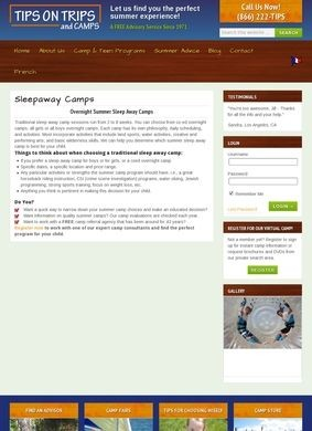 Tips on Trips and Camps: Sleepaway Camps