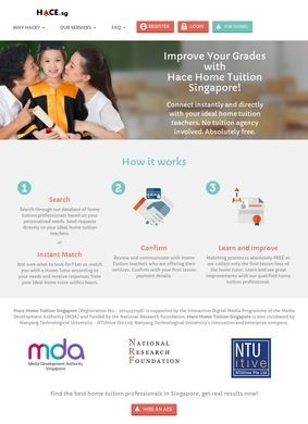 HACE: Hace Home Tuition Singapore