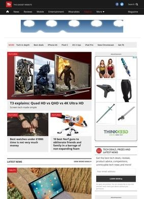 T3 – The Gadget Website