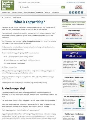 American Writers & Artists Inc.: What is Copywriting?