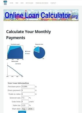 Online Loan Calculator