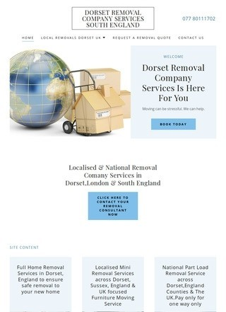 Dorset Moving Company services