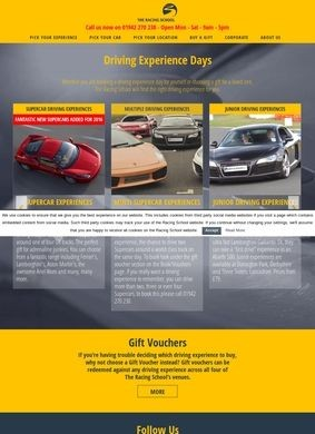 Driving Experience gifts from the Racing School